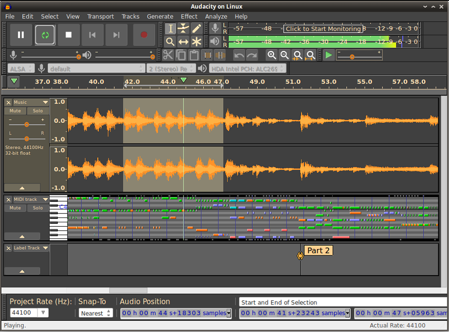 Best free music mixing software - Audacity